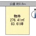 東茨城郡茨城町上石崎の不動産【土地】の区画図