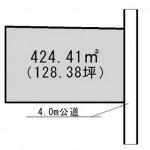 那珂市竹ノ内の不動産【土地】の区画図