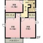 水戸市河和田の不動産(土地の建物プラン例の2F間取り図)