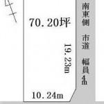 水戸市東野町の【土地】不動産情報(建物プラン提案付)kmz-m0553s