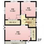 水戸市大串町の不動産(土地の建物プラン例の2F間取り図)