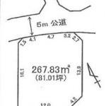那珂郡東海村船場の【土地】不動産情報 tz-t0165