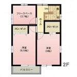 水戸市元石川町の不動産(土地の建物プラン例の2F間取り図)