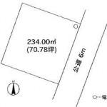 笠間市鯉淵の【土地】不動産情報(建物プラン提案付)fb-k0152s
