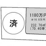 水戸市元吉田町の【土地】不動産情報 kfa-m1004